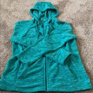Teal zip up jacket
